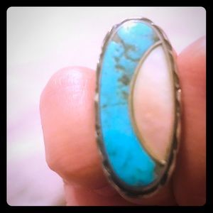 Jewelry - Vintage Authentic Navajo Ring - Sterl Svr & Turq